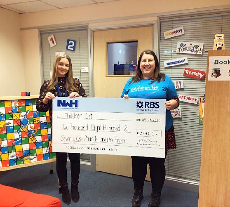 NWH raises more than £2,800 for Children 1st